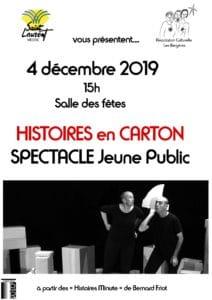 histoires en carton - spectacle - association culturelle les bergères
